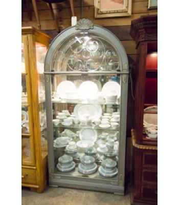 Display Cabinet with Light and Mirror Back