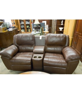 SOLD - Brown Vinyl Theatre Seating