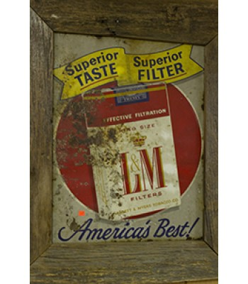 SOLD - L&M Antique Sign