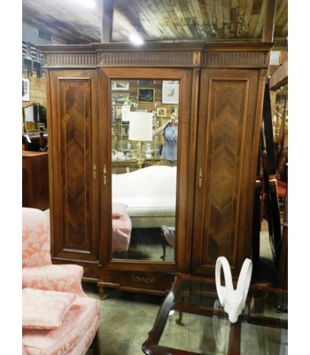 Late 19th C. French satinwood wardrobe