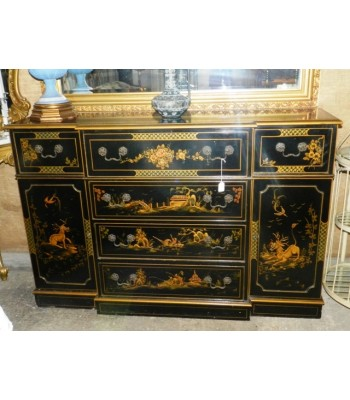 SOLD - Oriental Style Painted Dresser