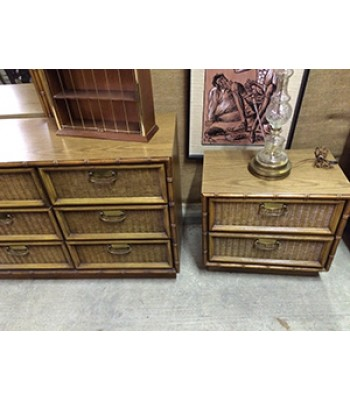 SOLD - Bamboo King-sized Bedroom set