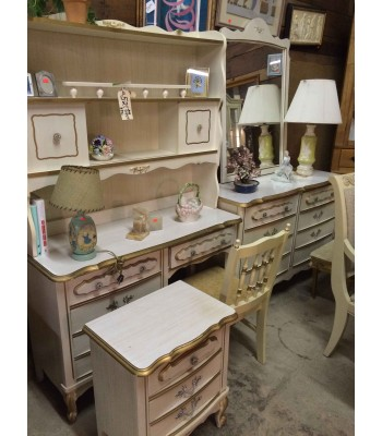 SOLD - Bedroom Set with Desk and Chair, Bureau with Mirror, and Nightstand