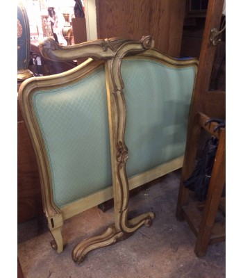 SOLD - French Provincial Upholstered Headboard and Footboard