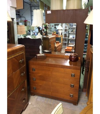 SOLD - Mid-century Dresser with Mirror