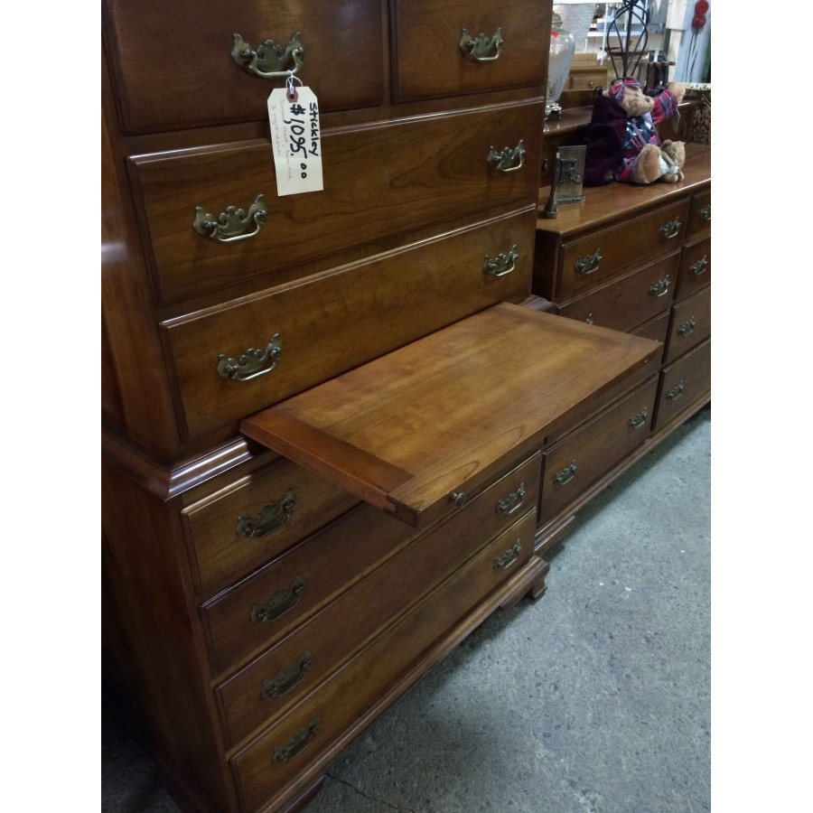 Sold Stickley Bedroom Set With Twin Bed 2 Dressers 2 Nightstands