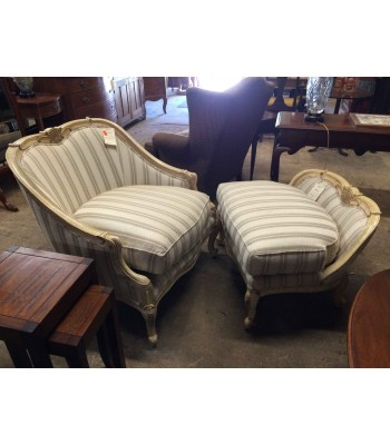 SOLD - Clayton Marcus Chair and Ottoman