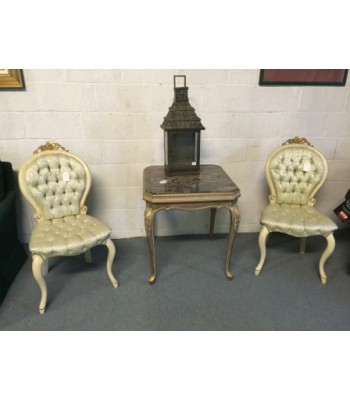 Pair French style chairs
