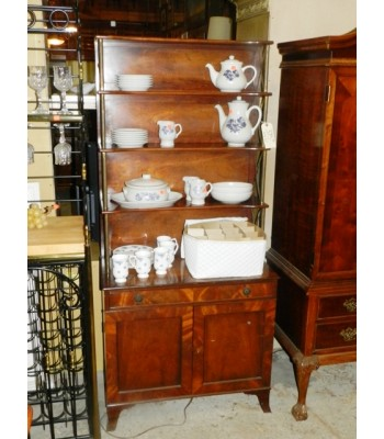 SOLD - Mahogany Open Hutch