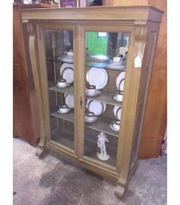 Empire style pickled China Cabinet