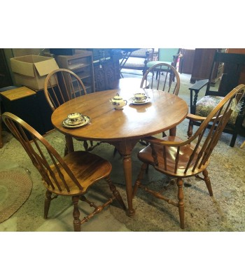 SOLD - Ethan Allen Table with 4 Chairs