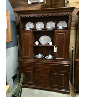 China Hutch with Carvings