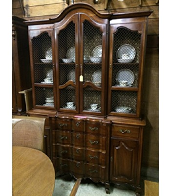 SOLD - French Provincial-style China Cupboard