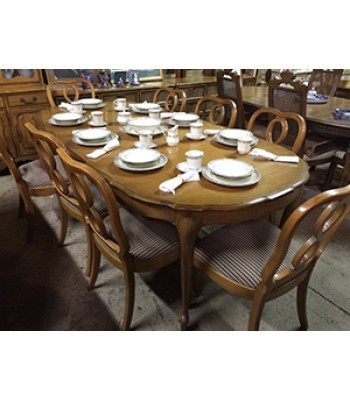 Dining Room Set with 8 Chairs and 2 Leaves