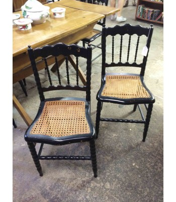 6 Cane Seat Chairs
