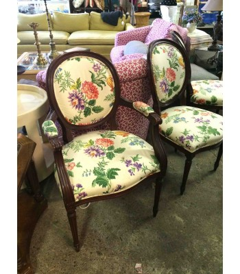 SOLD - Custom-upholstered Dining Chairs