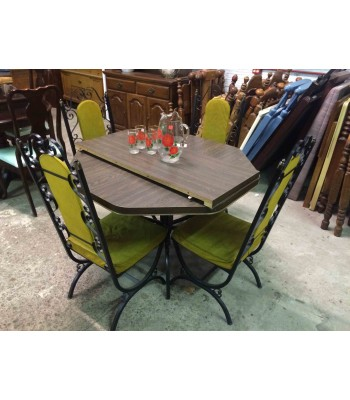 SOLD - Hexagonal Dinette Set with 4 Chairs