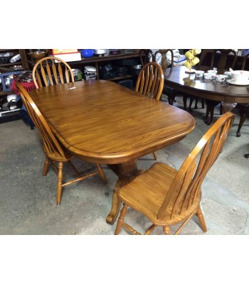 SOLD - Oak Table and 4 Chairs