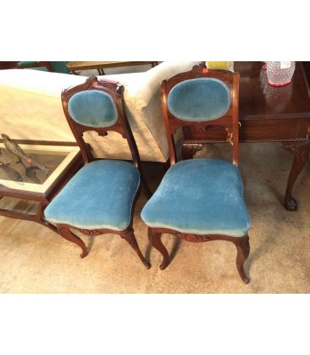 Upholstered Rosewood Chairs