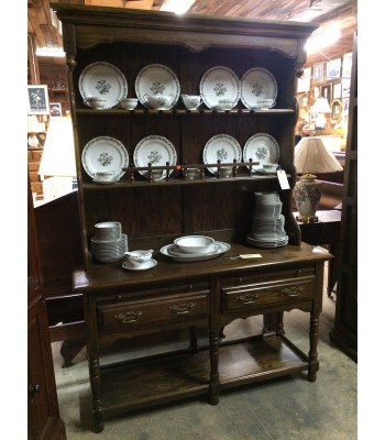Wood Open China Cupboard/Hutch