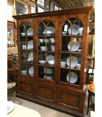Large China Cupboard with Paned Glass Doors