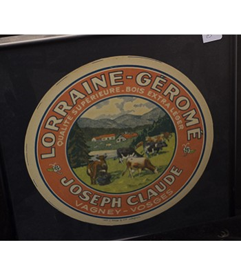 SOLD - Lorraine Gerome Cheese Label