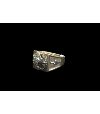 SOLD - Masonic Gold Ring with Diamond