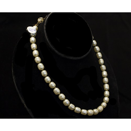 Miriam Haskell Glass Seaded Pearl Necklace