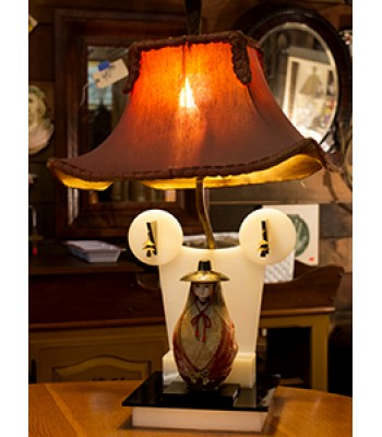Asian-style Lamp with Antique Shade