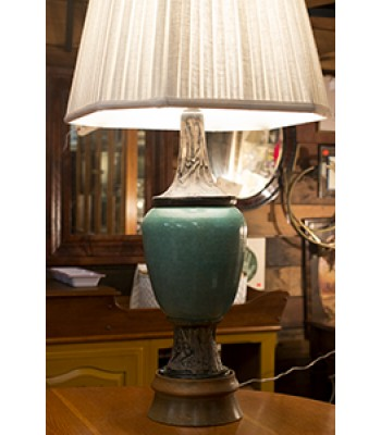 Turquoise and Wood Lamp