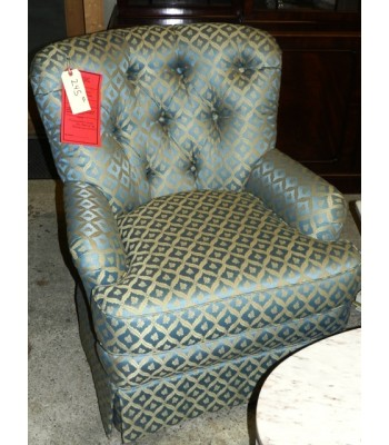 SOLD - Contemporary Tufted Wingback Arm Chair
