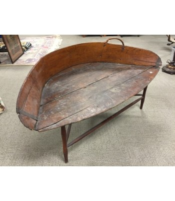 SOLD - Early hay scoop table or bench