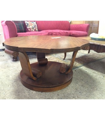 Wood, scrolled coffee table