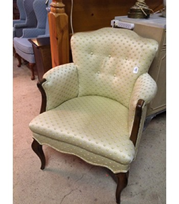 Yellow Floral Upholstered Chair