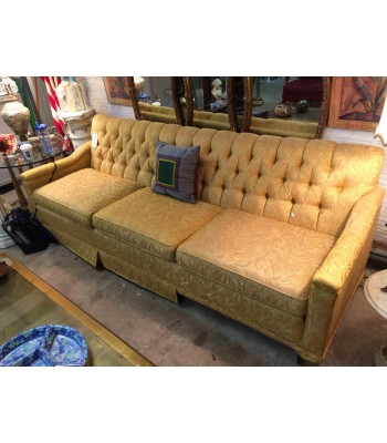 Tufted Gold 60s Sofa