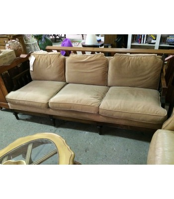 SOLD - Bradington Young Wood Frame Sofa