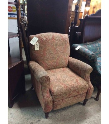 SOLD - Brocade Recliner