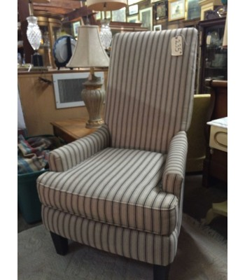 SOLD - American Signature Upholstered Striped Chair