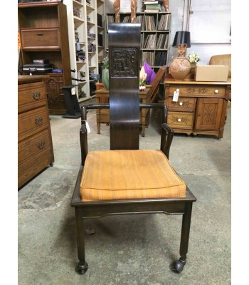 SOLD - Asian-inspired Wood Chair