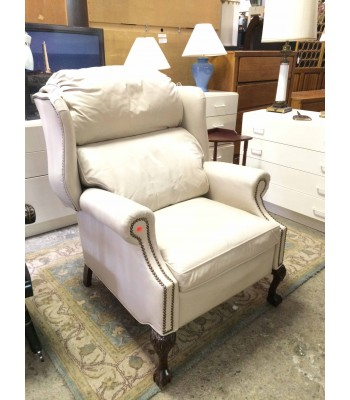 SOLD - Charles Harland White Recliner