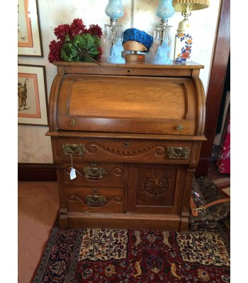 Victorian Roll Top Secretary Desk (as-is)